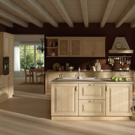 Cucina Gardenia in  Abete Sbiancato